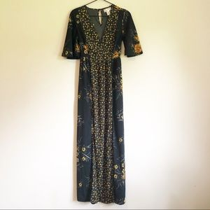 Band Of Gypsies Floral Printed Maxi Dress